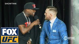 Floyd Mayweather fires back at Conor McGregor 'The fans can't fight for you' | TOR | UFC ON FOX