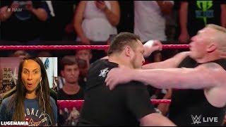 WWE Raw 6/12/17 Samoa Joe confronts Brock Lesner