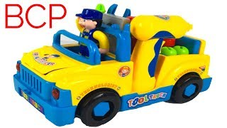 UNBOXING BCP BUMP N GO TODDLER TRUCK WITH LIGHT & SOUNDS AND PLAY TOOLS WITH BATTERY OPERATED DRILL