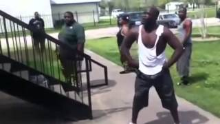 Funny street fight Funny fight between two blacks