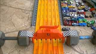 """HOT WHEELS DRAG RACING """"KING OF THE HILL"""" 7-2014 RACE"""
