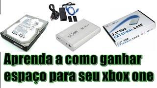 COMO INSTALAR HD DE PC 3,5 NO SEU XBOX ONE (PT- BR PORTUGUÊS)