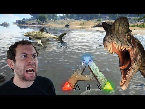 ARK: Survival Evolved Part 1: HOLY MEGALODON!!!