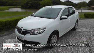 Renault Logan 2017 com novo motor 1.0 SCe de 3 cilindros - Detalhes - NoticiasAutomotivas.com.br