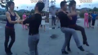 Square Dancing King Beat Chinese Dama 实拍:让中国大妈折服的广场舞!