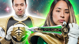 People Try On Power Ranger Suits