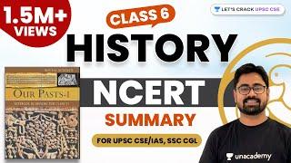 (1/2) (Hindi) Summary of Class 6 History NCERT [UPSC CSE/IAS, SSC CGL]