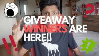 THE GIVEAWAY WINNERS ARE HERE!!