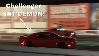 New OWNER Takes 18' Dodge Demon to Drag Strip!!!