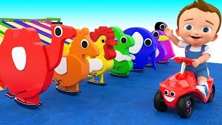 Learn Colors & Animals Names for Children with Baby Play Wooden Tumble Toy Set Kids Educational
