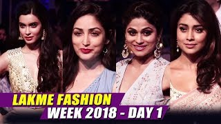Bollywood Celebs At Lakme Fashion Week 2018 | LFW Day 01