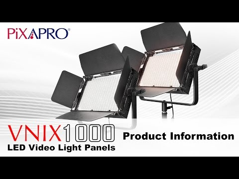 PIXAPRO VNIX LED 1000S Single Colour Daylight and 1000B Bi-Colour LED Panel With DMX Output