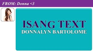 Donnalyn Bartolome — Isang Text [Official Lyric Video]