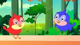 Two Little Dicky Birds Sitting On a Wall  - Nursery Rhyme with Lyrics