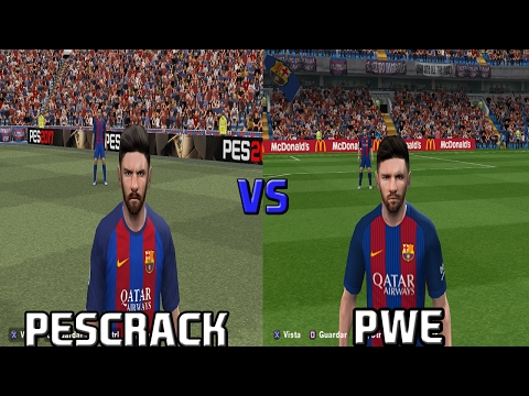Pes 2017 Ps2 PesCrack VS PWE FACE Comparision BARCELONA & REAL MADRID