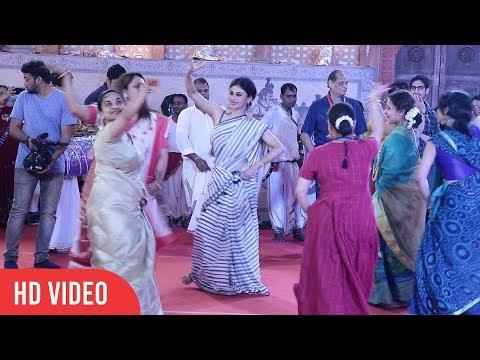 Mouni Roy, Sumona Chakravarti and Rani Mukherji Sister LIVE Garba and Dance at Biggest Durga Puja