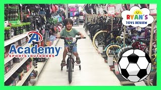 Family Fun Shopping Trip Toy Hunt for Soccer Ball