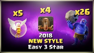 New Style: 26Bowler+5Healer+4Earthquake= Easy 3 Stars | TH11 War Strategy #175 | COC 2018 |