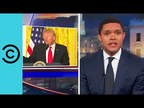Trump Goes It Alone His First Solo Press Conference The Daily Show Comedy Central UK