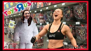TOY HUNT!!! | STEPH GETS READY FOR RONDA ROUSEY!!! | WWE Mattel Wrestling Figure Shopping Fun!!!