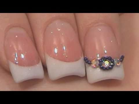 Acrylic Nails Tutorial Sculpted Pink & White