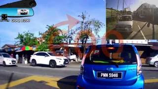 GOQ D208 Dual Camera Car DVR Rearview Mirror Dash Cam Full HD 1080P