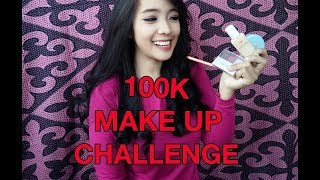 100K MAKEUP CHALLENGE | BAHASA | Tutorial Make Up Gampang dan Murah