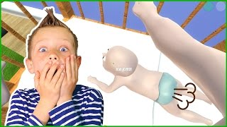 Baby FARTS in DADDY
