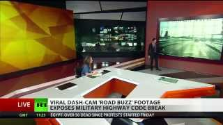 "CRAZY Russian Highway: Viral Dash-cam ""Road BUZZ"" Footage Expose Military Highway Code BREAK"