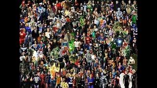 Trailer com vários filmes de heróis