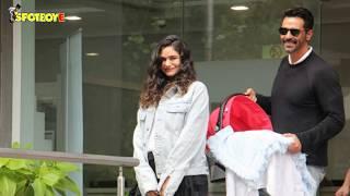 Arjun Rampal And Gabriella Demetriades Take Their Baby Boy Home | SpotboyE