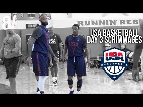 watch Team USA VS USA Select Scrimmage DAY 3   USA Basketball Las Vegas Training Camp