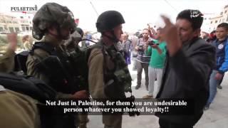 فلسطيني يخاطب جندي من اصل عربي في جيش الاحتلال