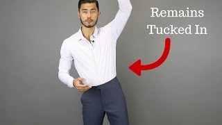 The Secret to Keeping Your Shirt Tucked in ALL Day