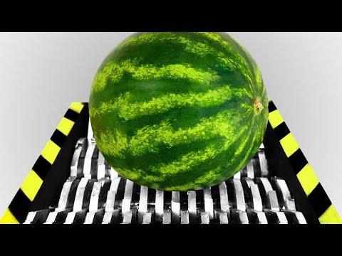 Industrial Shredder VS Watermelon