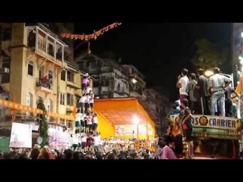 Boy falls Dahi Handi Festival accident India HD
