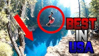 MOST BEAUTIFUL WATER IN AMERICA  *CLIFF JUMPING*