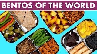 Vegetarian Bento Box Ideas: Around The World Snacks!