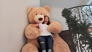 GIANT LIFE SIZE TEDDY BEAR SLIDE!!! (DON