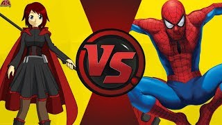 Spiderman VS Ruby Rose (RWBY)! Cartoon Fight Night Episode 13!