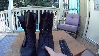 How to Lace in a Boot Zipper