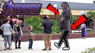 Sneaking into AVENGERS End Game! (IN THE MOVIES)
