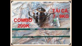 299K| [CÒN HÀNG]  0368_668_711 COMBO CẦN SHIMANO SCABARD 2M4 + YUMOSHI LC 6000