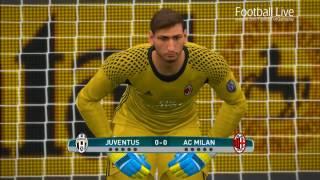 Juventus vs AC Milan | Supercoppa Italiana 2016 | Penalty Shootout | PES 2017 Gameplay PC