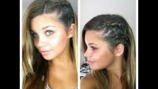 2 side braids- Half shaved look HAIR TUTORIAL