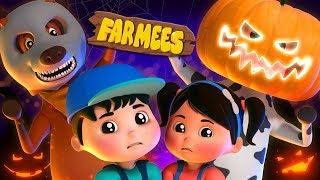 Knock Knock Who is There | Halloween Songs And Rhymes | Spooky Cartoon Videos for Kids | Farmees