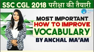 SSC CGL  How to Improve Vocabulary  English   Anchal mam