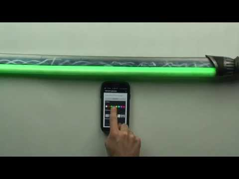 Calimacil Vibro blade LED Saber Mobile App test