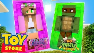 Minecraft Toy Store - WE ARE TURNED INTO TOYS!