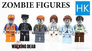 Lego Zombie Outbreak / Walking Dead Minifigures for Stop Motion / SWAT Figures / Death of Glenn